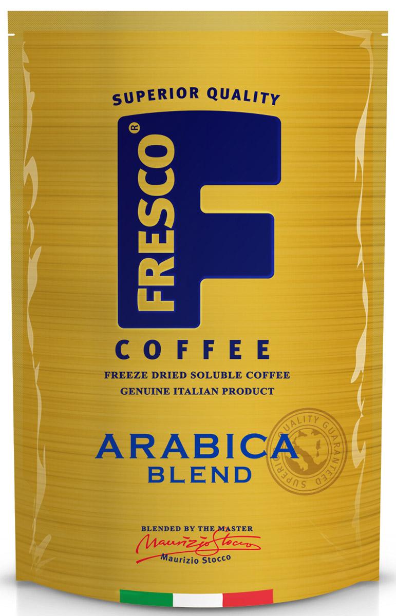 Fresco Arabica Blend кофе растворимый, 75 г4630007985091Fresco Arabica Blend – авторский купаж из трех особых сортов арабики: Катурра, Катуаи и Типика, выращенных в Колумбии. Он обладает тонко сбалансированным вкусом с нотками цитрусовых. Насыщенный сложный вкус. Напиток для утра и целого дня.