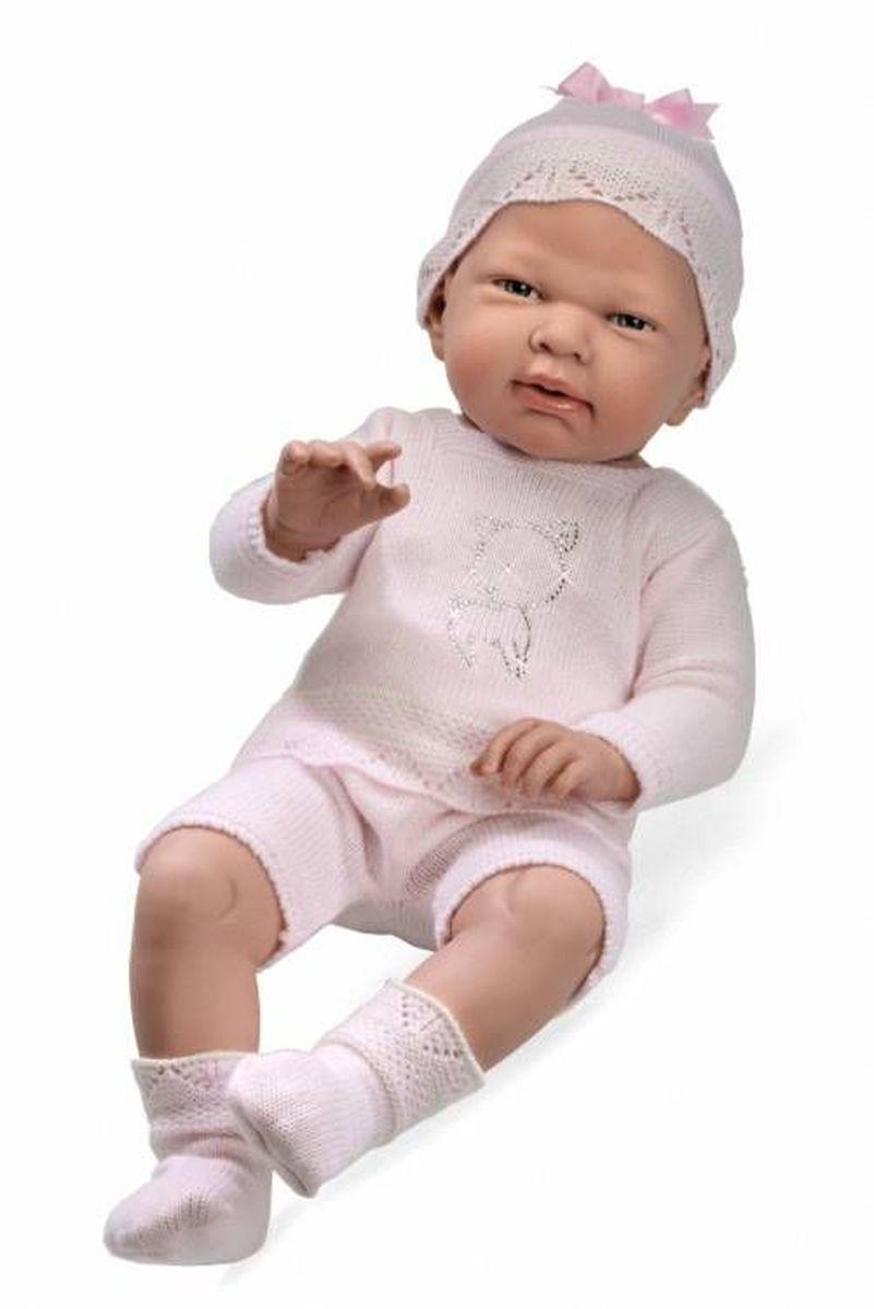 Arias Пупс Elegance цвет одежды розовый Т59291Т59291Пупс Arias Elegance одет в комплект с отделкой кружевом. Винил, использованный при производстве пупса, плотный и приятный на ощупь; он обработан так, что каждая складочка и морщинка выглядит очень естественно. Наряд создан из тех же материалов, что и одежда для новорожденных детей. У куклы ручки и ножки подвижны, глазки не закрываются, её можно купать. Не так давно дизайнерам Arias удалось придать коллекции Elegance еще больше элегантности и шика, украсив наряды кукол знаменитыми стразами Swarowski! Стразы прочно и аккуратно нанесены на наряды кукол с помощью технологии Hotfix. В коллекции используются белые и цветные стразы, из которых выполнены различные тематические рисунки и аппликации. Куклы лимитированной коллекции со стразами Swarowski упакованы в подарочные коробки. На ручке у куклы есть ярлык со знаком качества и логотипом Swarowski, подтверждающим официальную лицензионную продукцию.