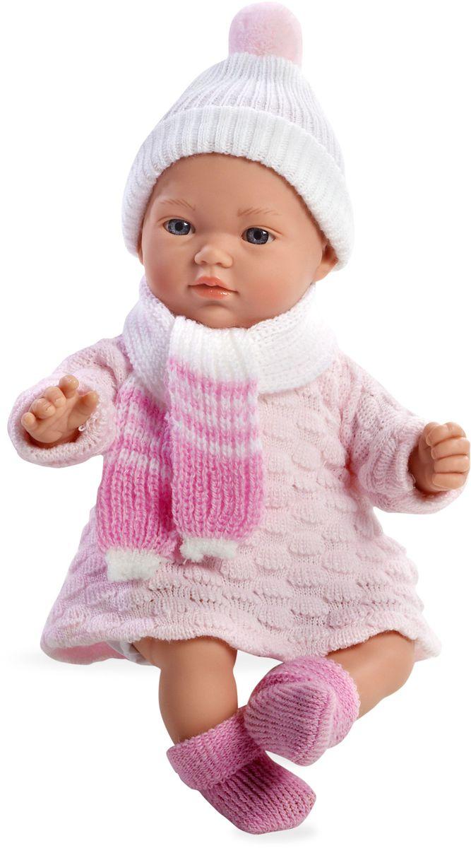 Arias Пупс озвученный Elegance цвет одежды розовый Т59780Т59780Пупс Arias Elegance - отличный подарок вашей малышке. Пупс с мягконабивным телом и виниловыми ручками, ножками и головой одет в вязаное платье, шапочку и шарфик. Функционал - 5 звуков младенца. Высота пупса - 28 см. Куклы Arias - это удивительный микс долгой семейной традиции необычайно красивого дизайна и стремления создавать лучший в своей категории продукт. Талантливые мастера испанской фабрики Arias создали премиальную коллекцию кукол под названием Elegance (Элеганс) - коллекцию, вдохновленную самой нежностью и элегантностью. Весь процесс производства Elegance взлелеян с величайшей заботой - начиная от момента идеи дизайна каждого компонента и тщательного выбора самых качественных и натуральных материалов, до создания разнообразных кукольных лиц высочайшей детализации. Все для того, чтобы европейский продукт получился непревзойденным, уникальным, высочайшего качества ручной работы.