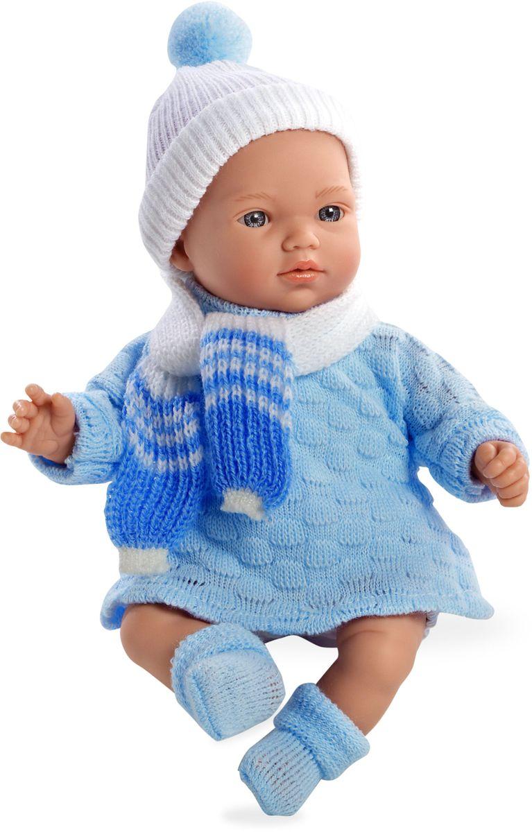 Arias Пупс озвученный Elegance цвет одежды голубой Т59781Т59781Пупс Arias Elegance - отличный подарок вашей малышке. Пупс с мягконабивным телом и виниловыми ручками, ножками и головой одет в вязаное платье, шапочку и шарфик. Функционал - 5 звуков младенца. Высота пупса - 28 см. Куклы Arias - это удивительный микс долгой семейной традиции необычайно красивого дизайна и стремления создавать лучший в своей категории продукт. Талантливые мастера испанской фабрики Arias создали премиальную коллекцию кукол под названием Elegance (Элеганс) - коллекцию, вдохновленную самой нежностью и элегантностью. Весь процесс производства Elegance взлелеян с величайшей заботой - начиная от момента идеи дизайна каждого компонента и тщательного выбора самых качественных и натуральных материалов, до создания разнообразных кукольных лиц высочайшей детализации. Все для того, чтобы европейский продукт получился непревзойденным, уникальным, высочайшего качества ручной работы.