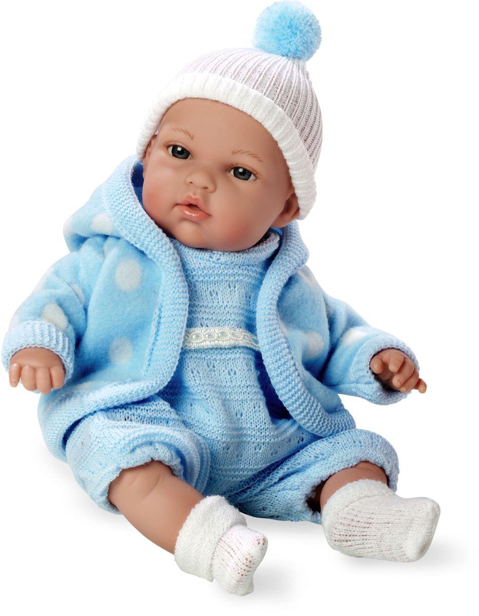 Arias Пупс озвученный Elegance цвет одежды голубой Т59782Т59782Пупс Arias Elegance - отличный подарок вашей малышке. Пупс с мягконабивным телом и виниловыми ручками, ножками и головой одет во флисовую курточку, комбинезон и шапочку. Функционал - плач. Высота пупса - 33 см. Куклы Arias - это удивительный микс долгой семейной традиции необычайно красивого дизайна и стремления создавать лучший в своей категории продукт. Талантливые мастера испанской фабрики Arias создали премиальную коллекцию кукол под названием Elegance (Элеганс) - коллекцию, вдохновленную самой нежностью и элегантностью. Весь процесс производства Elegance взлелеян с величайшей заботой - начиная от момента идеи дизайна каждого компонента и тщательного выбора самых качественных и натуральных материалов, до создания разнообразных кукольных лиц высочайшей детализации. Все для того, чтобы европейский продукт получился непревзойденным, уникальным, высочайшего качества ручной работы.