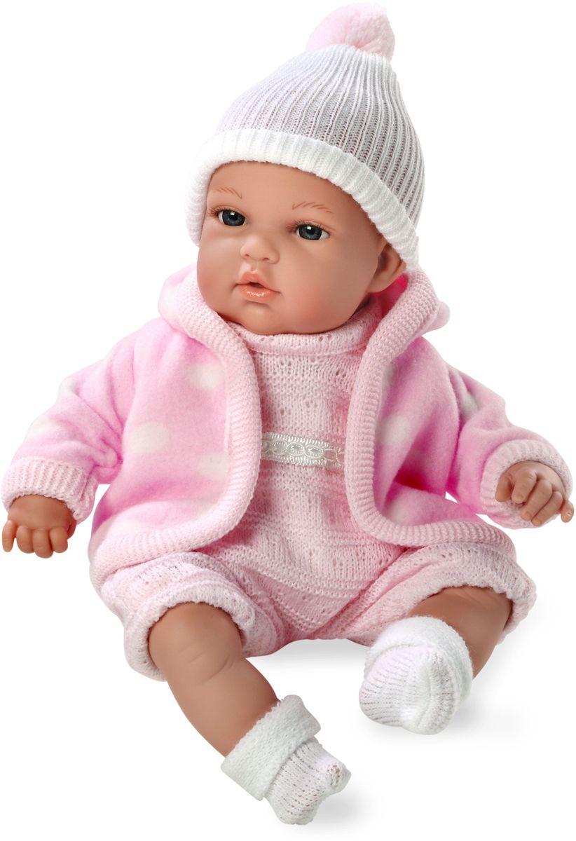 Arias Пупс озвученный Elegance цвет одежды розовый Т59783Т59783Пупс Arias Elegance - отличный подарок вашей малышке. Пупс с мягконабивным телом и виниловыми ручками, ножками и головой одет во флисовую курточку, комбинезон и шапочку. Функционал - плач. Высота пупса - 33 см. Куклы Arias - это удивительный микс долгой семейной традиции необычайно красивого дизайна и стремления создавать лучший в своей категории продукт. Талантливые мастера испанской фабрики Arias создали премиальную коллекцию кукол под названием Elegance (Элеганс) - коллекцию, вдохновленную самой нежностью и элегантностью. Весь процесс производства Elegance взлелеян с величайшей заботой - начиная от момента идеи дизайна каждого компонента и тщательного выбора самых качественных и натуральных материалов, до создания разнообразных кукольных лиц высочайшей детализации. Все для того, чтобы европейский продукт получился непревзойденным, уникальным, высочайшего качества ручной работы.