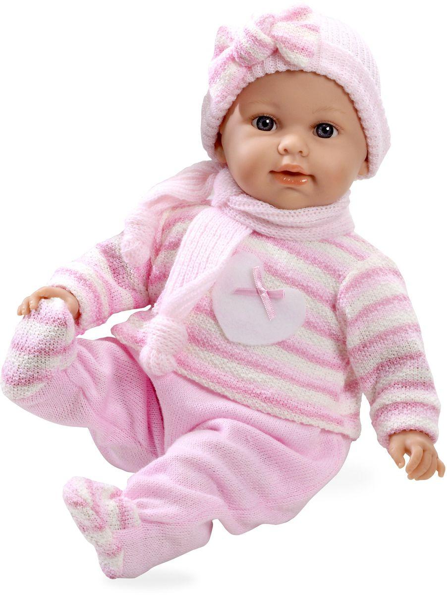 Arias Пупс озвученный Elegance цвет одежды розовый Т59786Т59786Пупс Arias Elegance - отличный подарок вашей малышке. Пупс с мягконабивным телом и виниловыми ручками, ножками и головой одет в вязаный костюмчик, шапочку и шарфик. Функционал - плач. Высота пупса - 42 см. В комплект входит соска. Куклы Arias - это удивительный микс долгой семейной традиции необычайно красивого дизайна и стремления создавать лучший в своей категории продукт. Талантливые мастера испанской фабрики Arias создали премиальную коллекцию кукол под названием Elegance (Элеганс) - коллекцию, вдохновленную самой нежностью и элегантностью. Весь процесс производства Elegance взлелеян с величайшей заботой - начиная от момента идеи дизайна каждого компонента и тщательного выбора самых качественных и натуральных материалов, до создания разнообразных кукольных лиц высочайшей детализации. Все для того, чтобы европейский продукт получился непревзойденным, уникальным, высочайшего качества ручной работы.