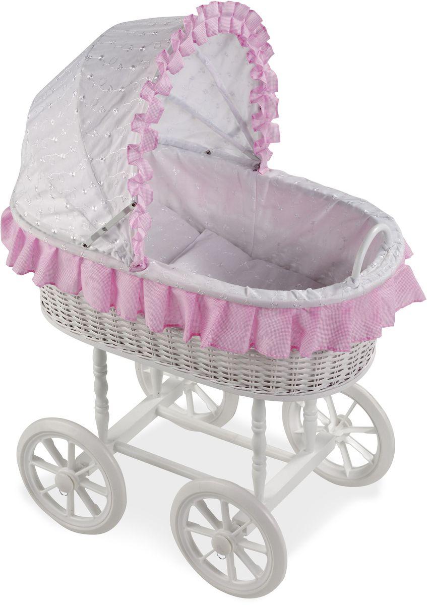 Arias Кроватка для кукол Elegance Т59794Т59794Кроватка-люлька Arias Elegance пополнит коллекцию мебели для кукол вашей малышки. Кроватка-люлька на колесах снабжена капюшоном и постелькой. Размер: 58 см x 37 см x 80 см.