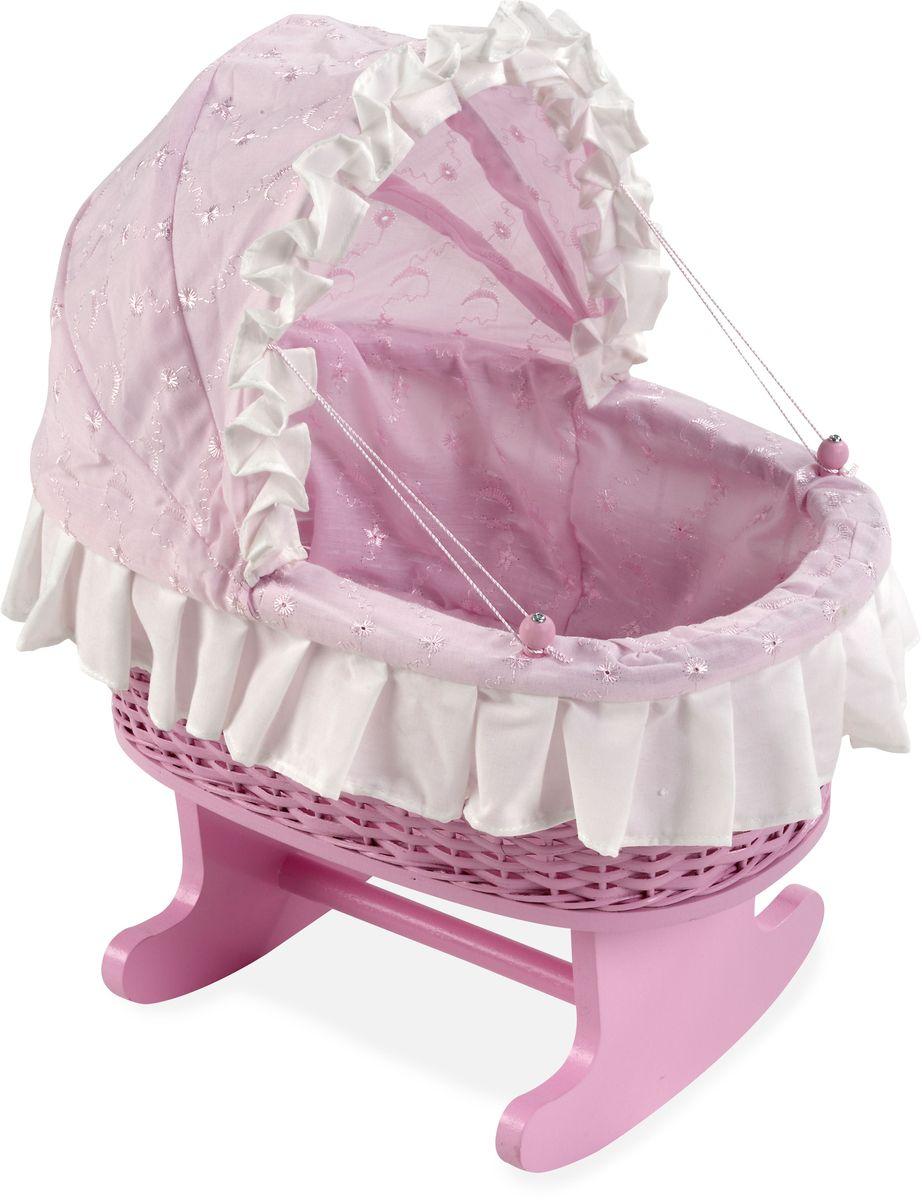 Arias Кроватка для кукол Elegance Т59797Т59797Деревянная кроватка-качалка для кукол Arias Elegance имеет постельку и капюшон. Размер: 36 см x 24 см x 44 см.