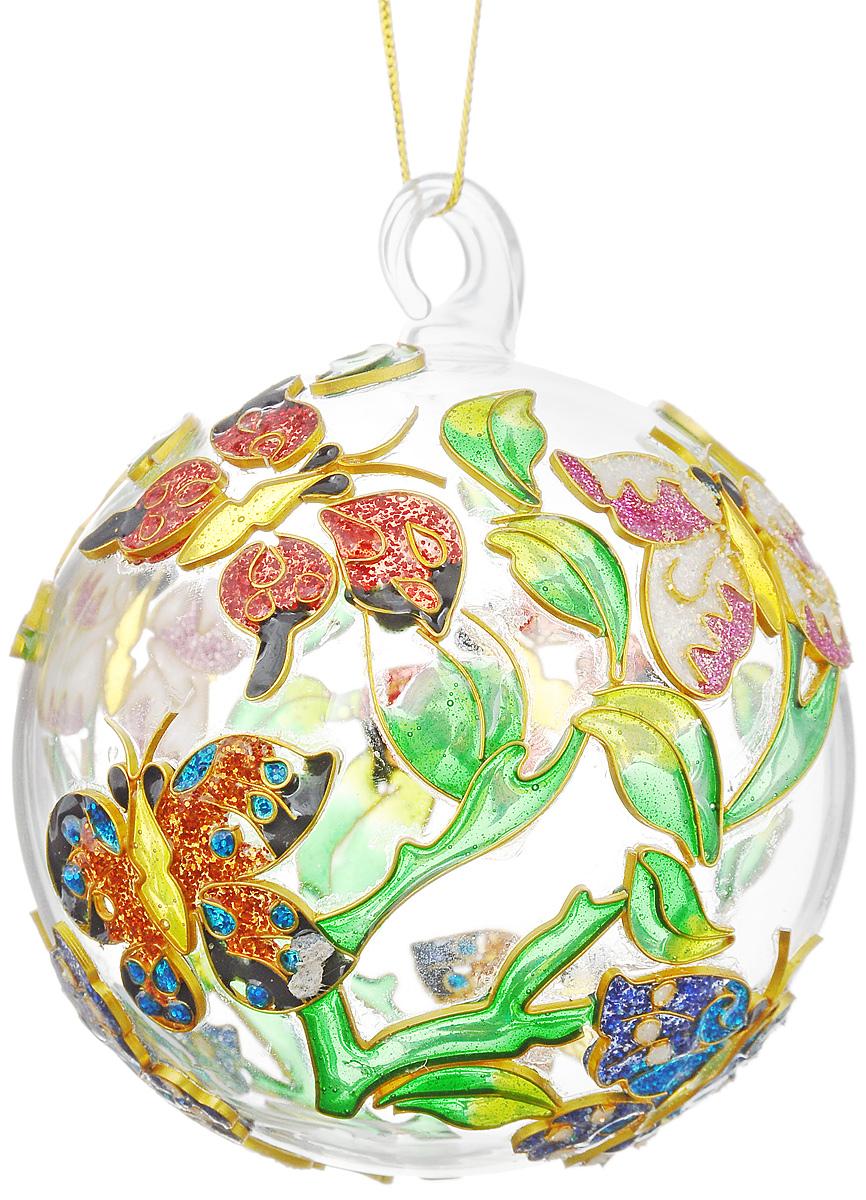 Украшение новогоднее подвесное Winter Wings Бабочки, диаметр 10 смN079089Новогоднее подвесное украшение Winter Wings Бабочки выполнено из стекла и эмали. С помощью специальной петельки украшение можно повесить в любом понравившемся вам месте. Но, конечно, удачнее всего оно будет смотреться на праздничной елке. Елочная игрушка - символ Нового года. Она несет в себе волшебство и красоту праздника. Создайте в своем доме атмосферу веселья и радости, украшая новогоднюю елку нарядными игрушками, которые будут из года в год накапливать теплоту воспоминаний. Откройте для себя удивительный мир сказок и грез. Почувствуйте волшебные минуты ожидания праздника, создайте новогоднее настроение вашим дорогим и близким. Диаметр украшения: 10 см.