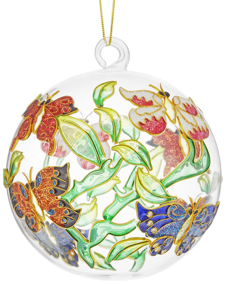 Украшение новогоднее подвесное Winter Wings Бабочка, диаметр 7,5 смN079087Новогоднее подвесное украшение Winter Wings Бабочка выполнено из стекла и эмали. С помощью специальной петельки украшение можно повесить в любом понравившемся вам месте. Но, конечно, удачнее всего оно будет смотреться на праздничной елке. Елочная игрушка - символ Нового года. Она несет в себе волшебство и красоту праздника. Создайте в своем доме атмосферу веселья и радости, украшая новогоднюю елку нарядными игрушками, которые будут из года в год накапливать теплоту воспоминаний. Откройте для себя удивительный мир сказок и грез. Почувствуйте волшебные минуты ожидания праздника, создайте новогоднее настроение вашим дорогим и близким. Диаметр украшения: 7,5 см.