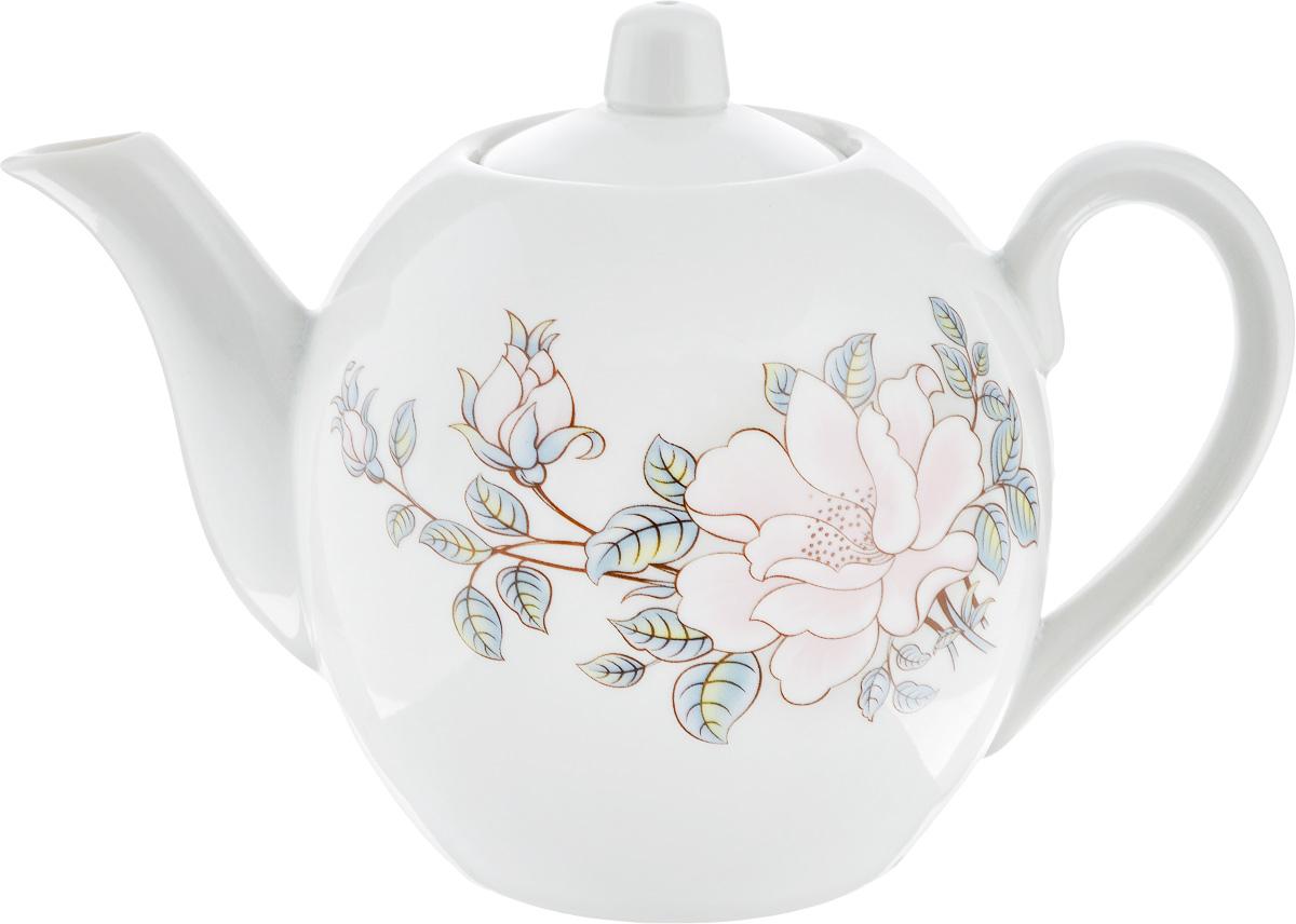 Чайник заварочный Фарфор Вербилок Контесса, 800 мл1640610Заварочный чайник Фарфор Вербилок Контесса изготовлен из высококачественного фарфора. Изделие прекрасно подходит для заваривания вкусного и ароматного чая, а также травяных настоев. Отверстия в основании носика препятствуют попаданию чаинок в чашку. Оригинальный дизайн сделает чайник настоящим украшением стола. Он удобен в использовании и понравится каждому. Диаметр чайника (по верхнему краю): 6 см. Высота чайника (без учета крышки): 12 см.
