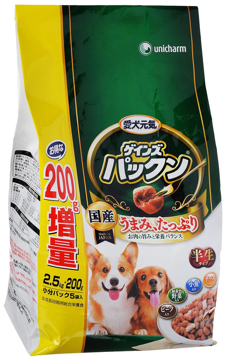 Корм сухой Unicharm Gaines Piranha. Нормализация пищеварения для собак от 7 лет, с говядиной, овощами, мелкой рыбой и сыром, 2,7 кг618080Полнорационный мягкий корм Gaines Piranha. Нормализация пищеварения - это хорошо сбалансированное питание для нормализации пищеварения взрослых собак. Мягкие гранулы с бесподобным вкусом говядины, овощей, рыбы и сыра содержат все необходимые питательные вещества и микроэлементы для здоровья вашего четвероногого друга. Входящие в состав олигосахариды стимулируют рост полезных бифидобактерий в кишечнике и нормализуют пищеварение собаки. Гармоничное сочетание минералов и витаминов способствует поддержанию вашего питмоца в отличной физической форме. Товар сертифицирован.