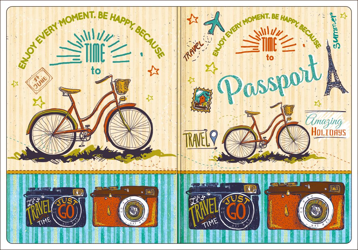 Обложка для паспорта Magic Home, цвет: бежевый, голубой. 4450744507Обложка для паспорта классической модели.