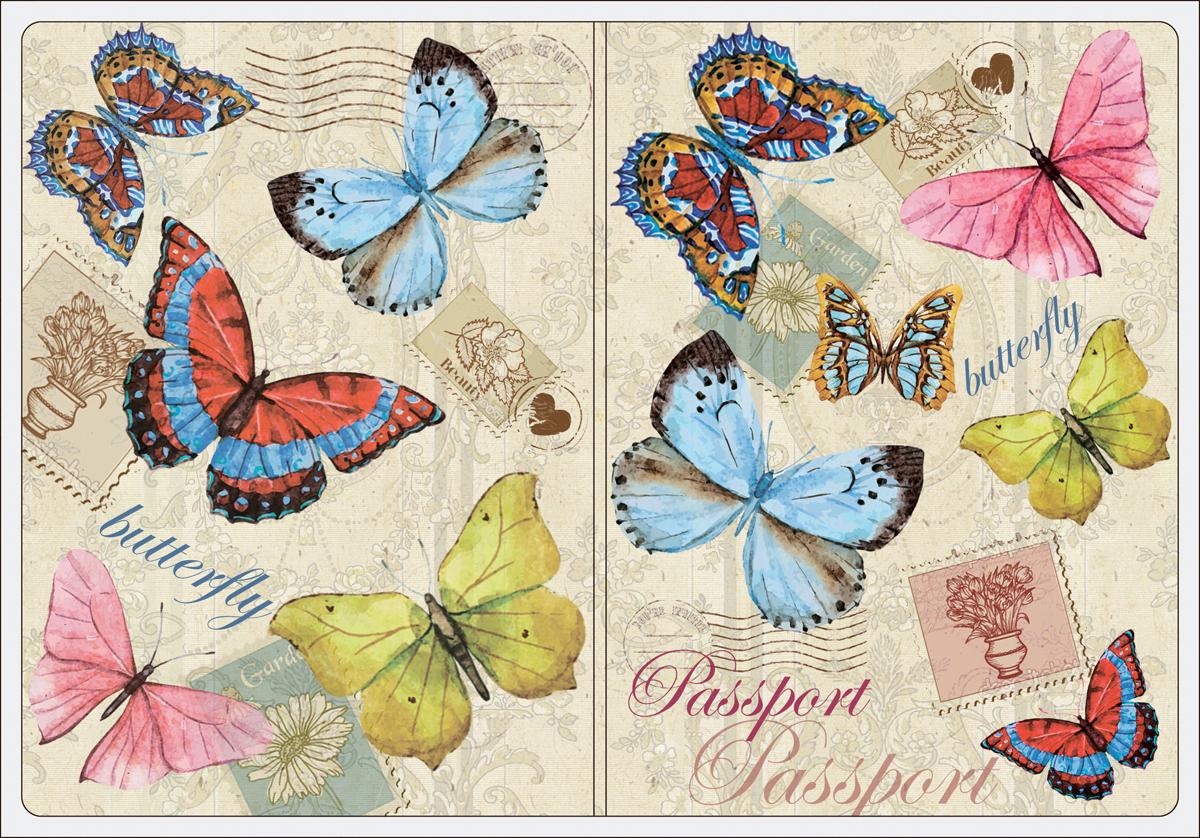 Обложка для паспорта женская Magic Home, цвет: бежевый, голубой. 4451244512Обложка для паспорта классической модели.