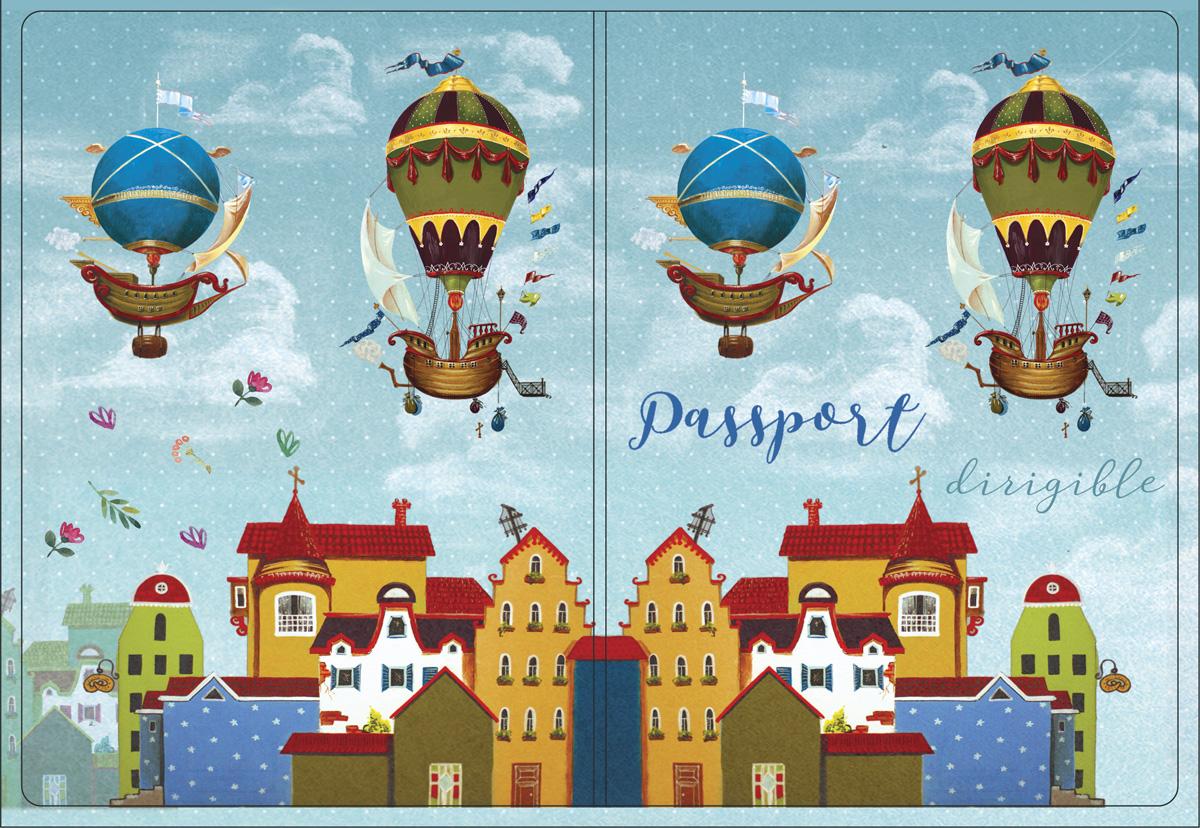 Обложка для паспорта Magic Home, цвет: голубой, коричневый. 4451444514Обложка для паспорта классической модели.
