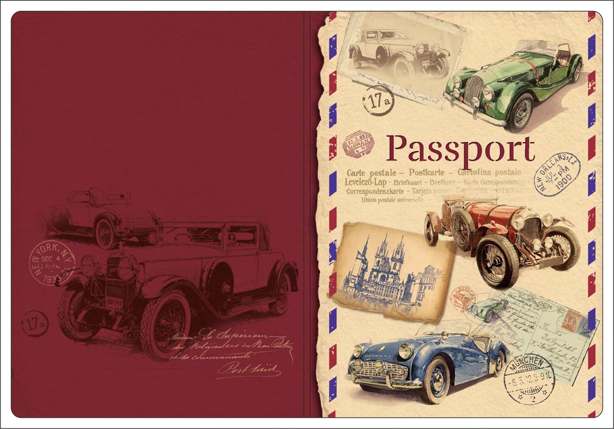Обложка для паспорта Magic Home, цвет: бордовый, бежевый. 4451644516Обложка для паспорта классической модели.