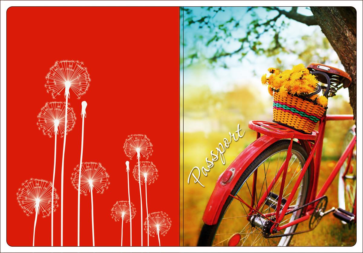 Обложка для паспорта Magic Home, цвет: красный, оранжевый. 4451844518Обложка для паспорта классической модели.