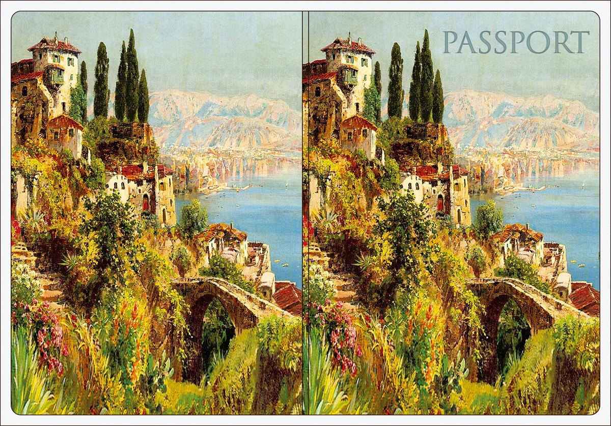 Обложка для паспорта Magic Home, цвет: зеленый, голубой. 4452044520Обложка для паспорта классической модели.