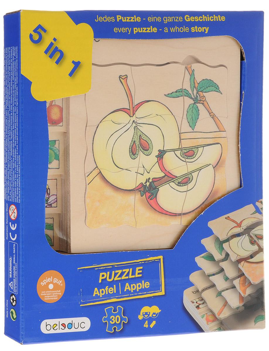 Beleduc Пазл для малышей Яблоко 5 в 117039С помощью пазла Beleduc Яблоко. 5 в 1 дети узнают, как растет яблоко. Каждый пазл в этом наборе - целая история. Задача ребенка - собрать не только части каждого пазла, но и сложить слоями все пазлы в правильной последовательности. Пазл укладывается в 5 слоев. Собирание пазла развивает у ребенка мелкую моторику рук, тренирует наблюдательность, логическое мышление, знакомит с окружающим миром, с цветом и разнообразными формами, учит усидчивости и терпению, аккуратности и вниманию.
