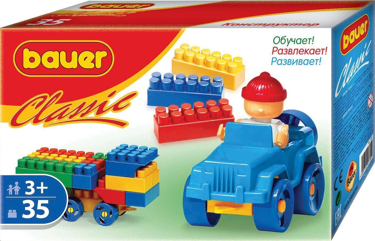 Bauer Конструктор Classic кр320кр320Конструктор Bauer серии Classic содержит 35 элементов. Конструктор предназначен для детей от 3-х лет.