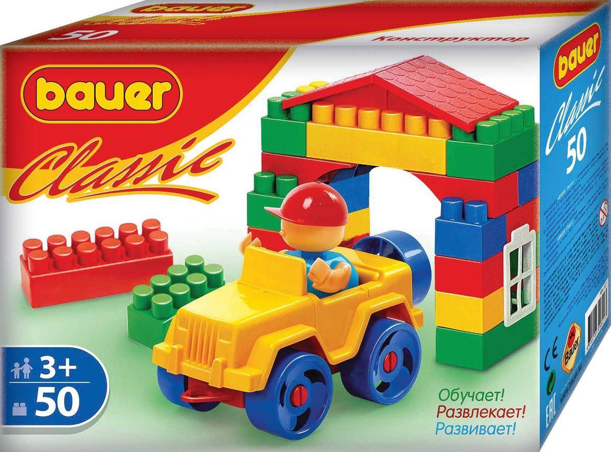 Bauer Конструктор Classic кр321кр321Конструктор Bauer серии Classic содержит 50 элементов. Конструктор предназначен для детей от 3-х лет.