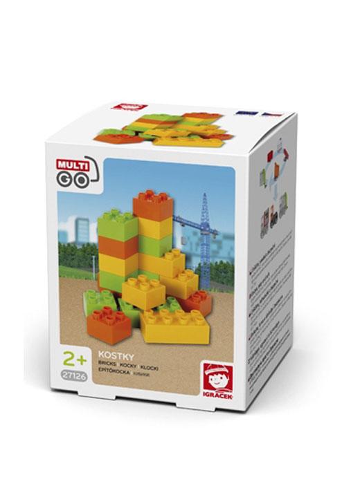 MultiGo Кубики27126Набор кубиков MultiGo включает в себя 18 ярких элементов, выполненных из безопасного для ребенка материала. Используйте их для создания различных фигур и сооружений.