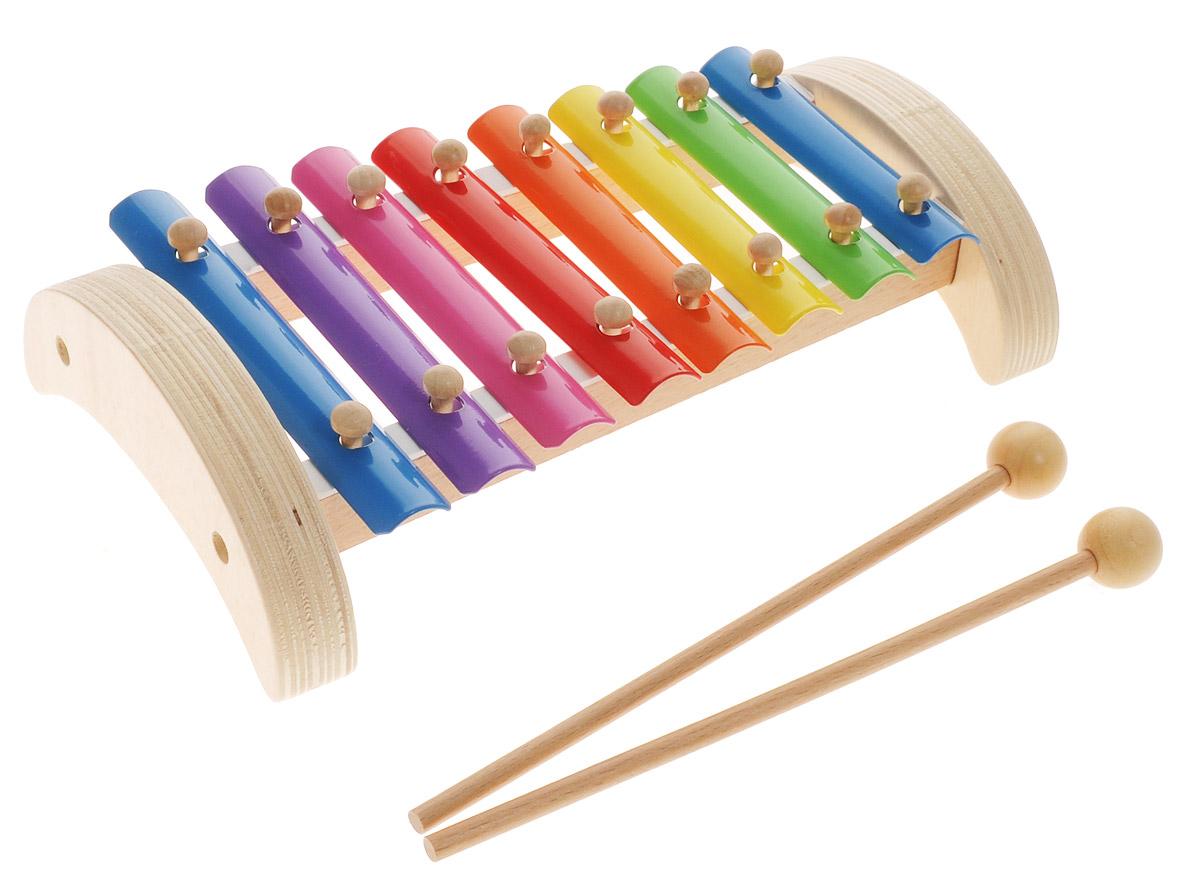 Мир деревянных игрушек Ксилофон 8 тоновД379Музыкальный инструмент Ксилофон Мир деревянных игрушек непременно порадует маленького музыканта. Он выполнен из современных и экологически безопасных материалов. Игрушка имеет яркий цвет и обязательно привлечет внимание малыша. Удобные палочки позволят вашему ребенку сочинять различные мелодии. Такая яркая музыкальная игрушка поможет ребенку развить слух, внимание, память и мелкую моторику.