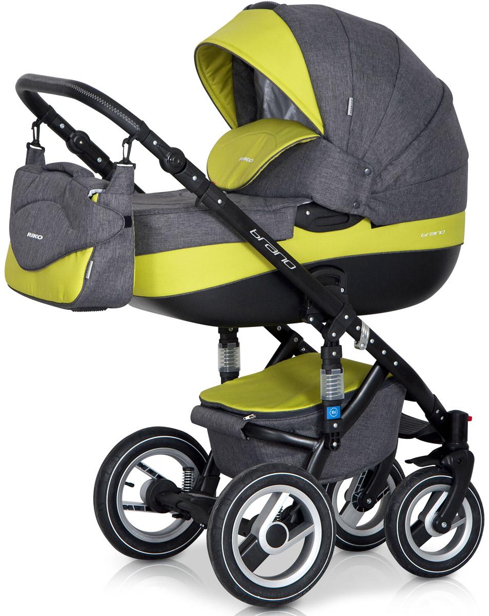 Riko Коляска 2 в 1 Brano цвет серый лайм5901812682697Детская коляска BRANO от Польского производителя RIKO предназначена для детей с рождения и до 3-х лет. Модная, удобная и функциональная – новая модель в современном, стильном дизайне. Коляска BRANO обеспечит крохе самые лучшие условия для увлекательных прогулок и комфортного полноценного сна во время прогулок на свежем воздухе. Малыш будет прекрасно себя чувствовать в просторной люльке, а комфортное прогулочное сиденье для подросшего ребенка предоставит наилучшие условия для изучения окружающего мира. Эта модель коляски на алюминиевой раме обладает отличной проходимостью за счет легкого хода и надувных колес. Коляска маневренная благодаря поворотным передним колесам. Современная система амортизации колес позволяет легко преодолевать любые препятствия на прогулке, и при этом сохраняется мягкость хода, обеспечивая спокойный сон вашего малыша. Коляска BRANO укомплектована просторной и комфортной люлькой и прогулочным блоком, которые легко устанавливаются на раму как по ходу, так и...