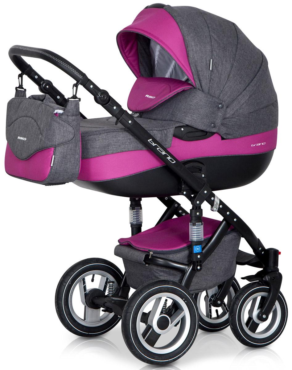 Riko Коляска 2 в 1 Brano цвет серый фуксия5901812682703Детская коляска BRANO от Польского производителя RIKO предназначена для детей с рождения и до 3-х лет. Модная, удобная и функциональная – новая модель в современном, стильном дизайне. Коляска BRANO обеспечит крохе самые лучшие условия для увлекательных прогулок и комфортного полноценного сна во время прогулок на свежем воздухе. Малыш будет прекрасно себя чувствовать в просторной люльке, а комфортное прогулочное сиденье для подросшего ребенка предоставит наилучшие условия для изучения окружающего мира. Эта модель коляски на алюминиевой раме обладает отличной проходимостью за счет легкого хода и надувных колес. Коляска маневренная благодаря поворотным передним колесам. Современная система амортизации колес позволяет легко преодолевать любые препятствия на прогулке, и при этом сохраняется мягкость хода, обеспечивая спокойный сон вашего малыша. Коляска BRANO укомплектована просторной и комфортной люлькой и прогулочным блоком, которые легко устанавливаются на раму как по ходу, так и...