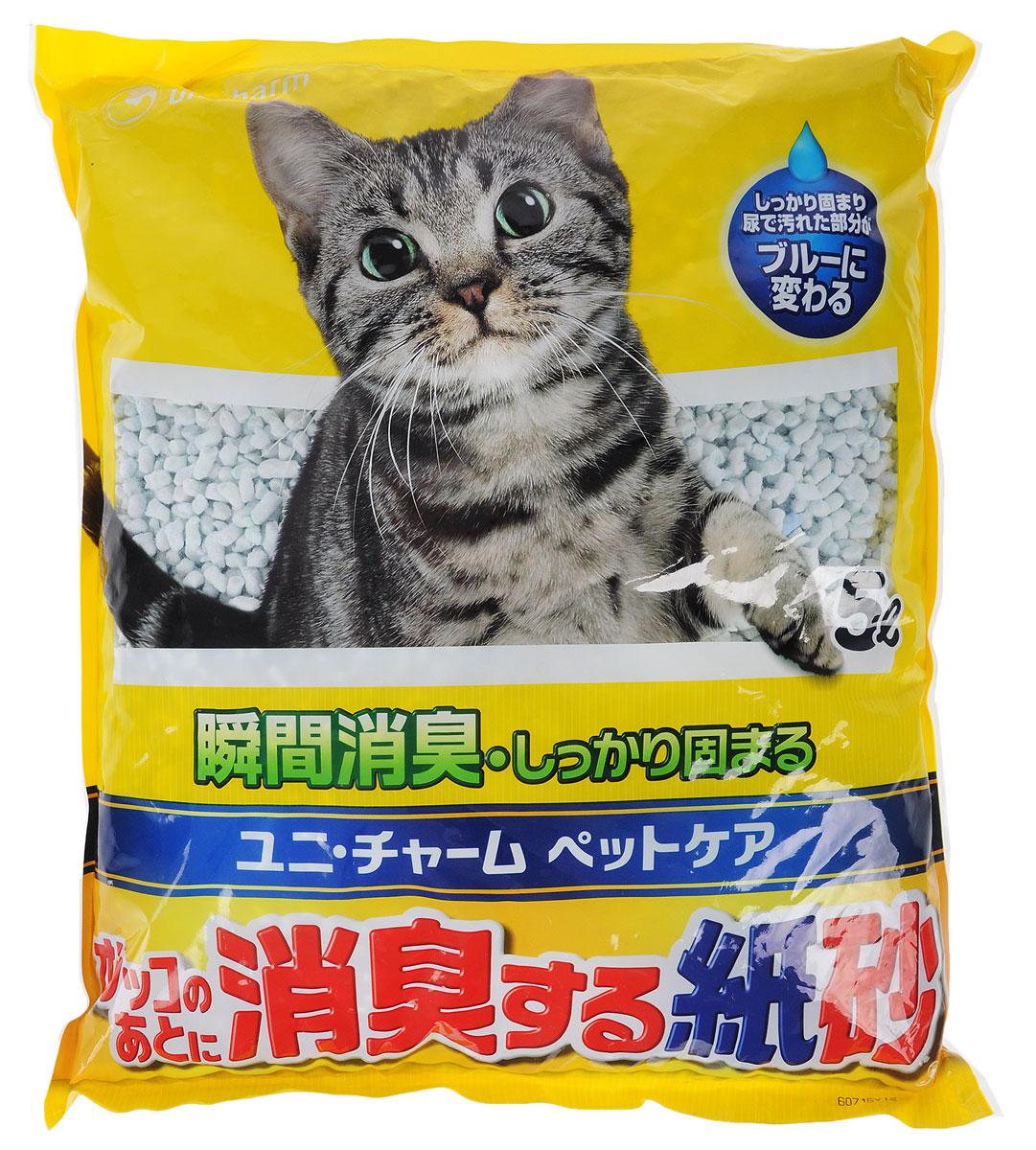Наполнитель для кошачьего туалета Unicharm DeoSand Kamisuna, с сильным дезодорирующим эффектом, 5 л600091/600092Бумажный наполнитель для кошачьего туалета Unicharm DeoSand Kamisuna обеспечивает мощное дезодорирующее действие в течение длительного времени, полностью устраняет запах кошачьих экскрементов. Мгновенно впитывает влагу и собирается в твердые комочки. При поглощении влаги наполнитель меняет цвет, благодаря чему его можно своевременно обнаружить и удалить. Наполнитель производится из экологически чистых природных материалов. Изделие содержит специальные ароматизированные гранулы, которые предотвращают распространение запахов даже в закрытом помещении. Наполнитель Unicharm DeoSand Kamisuna надолго обеспечивает чистоту и свежесть лотка вашей кошки. Состав: вторичная целлюлоза, абсорбирующий полимер, крахмал, ароматизатор. Товар сертифицирован.