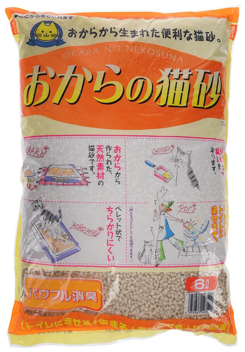 Наполнитель для кошачьего туалета Hitachi Okara, без аромата, 6 л143520Наполнитель для кошачьего туалета Hitachi Okara изготовлен из натуральных компонентов, которые быстро адсорбируют влагу и превращают кошачьи выделения в комочки, растворимые в воде. Для утилизации достаточно смыть комочки использованного наполнителя в унитаз. Наполнитель предотвращает распространение неприятного запаха и купирует размножение бактерий. Благодаря натуральной основе, животное быстро привыкает к наполнителю. Состав: окара, карбонат кальция, крахмал, антибактериальный компонент, проклеивающиеся компоненты, антиоксидант, отдушки, красители. Товар сертифицирован.