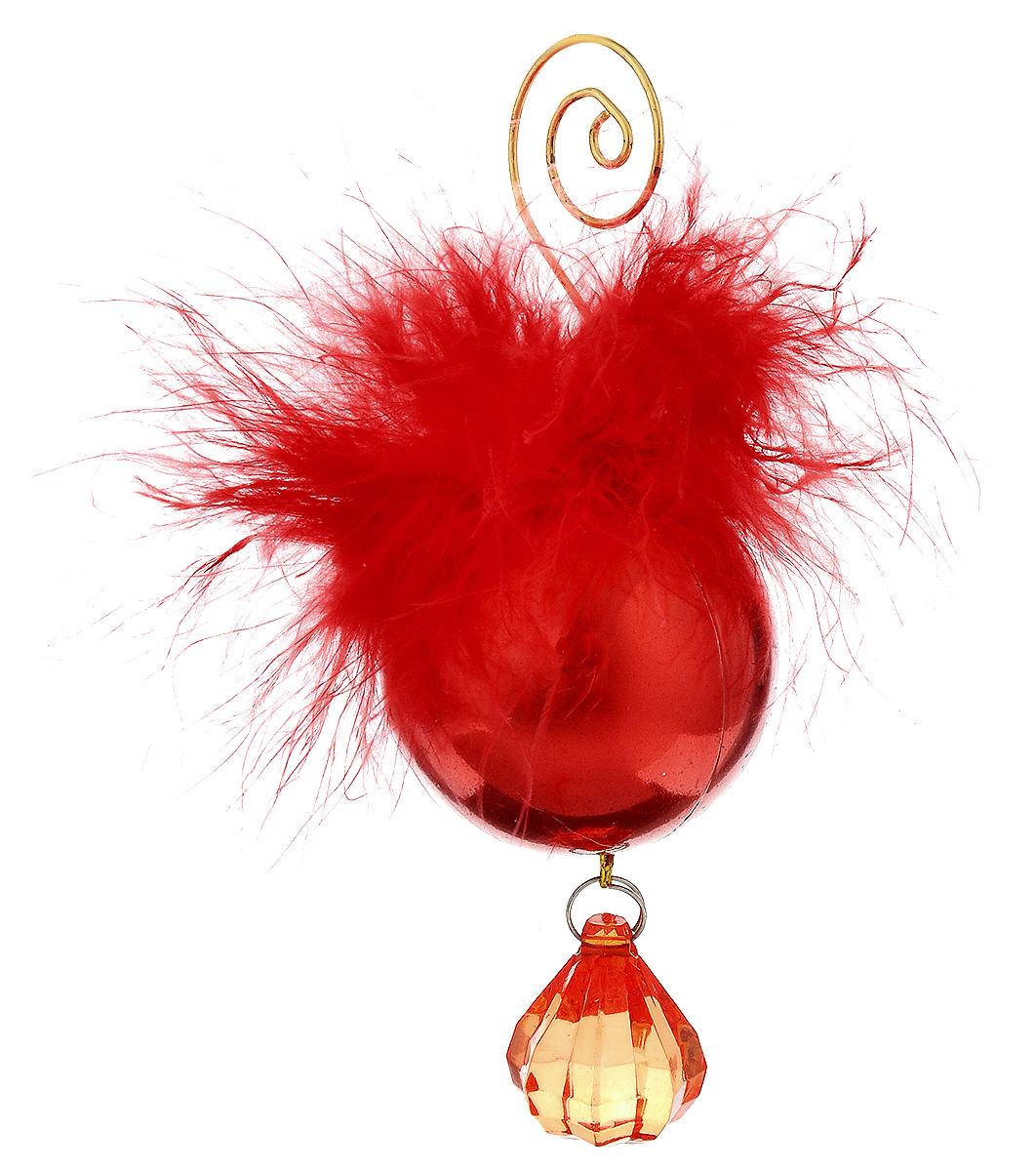 Украшение новогоднее подвесное House & Holder, 10 х 4 смFT-21Новогоднее подвесное украшение House & Holder выполнено из пластмассы и декоративного пера. С помощью специальной петельки украшение можно повесить в любом понравившемся вам месте. Но, конечно, удачнее всего оно будет смотреться на праздничной елке. Елочная игрушка - символ Нового года. Она несет в себе волшебство и красоту праздника. Создайте в своем доме атмосферу веселья и радости, украшая новогоднюю елку нарядными игрушками, которые будут из года в год накапливать теплоту воспоминаний. Размер: 10 х 4 см.