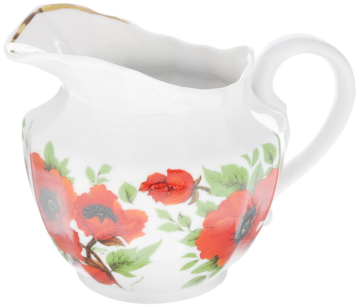 Сливочник Фарфор Вербилок Маки, 350 мл7983153Сливочник Фарфор Вербилок Маки выполнен из высококачественного фарфора и декорирован рисунком с изображением красных маков. Это изделие предназначено для того, чтобы красиво и аппетитно подавать на стол сливки или молоко к чаю, кофе, супу или фруктам. Размер сливочника (по верхнему краю): 9 х 7 см. Высота сливочника: 10 см.