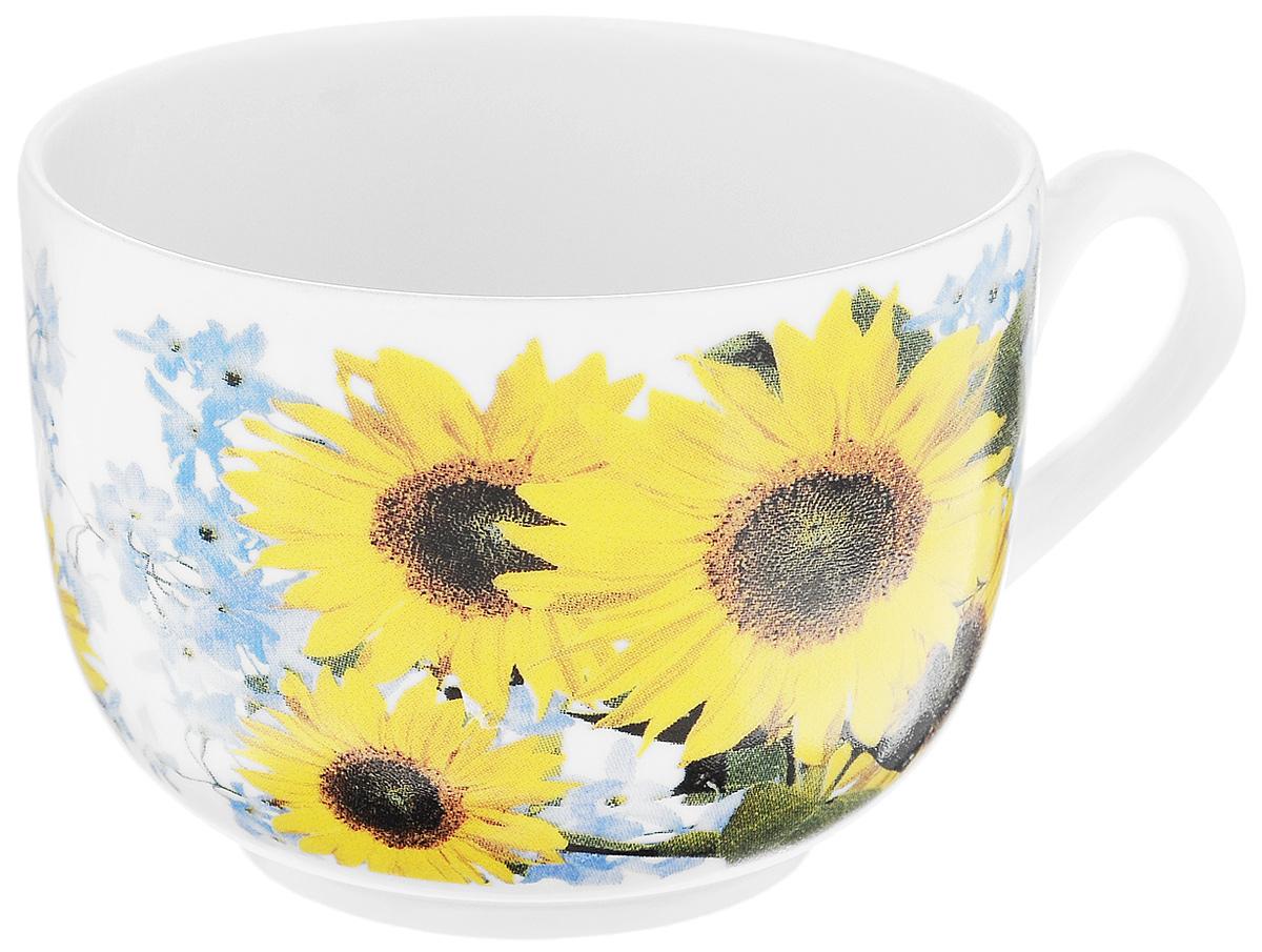 Чашка чайная Фарфор Вербилок Август. Подсолнух, 300 мл767209Чайная чашка Фарфор Вербилок Август. Подсолнух способна скрасить любое чаепитие. Изделие выполнено из высококачественного фарфора. Посуда из такого материала позволяет сохранить истинный вкус напитка, а также помогает ему дольше оставаться теплым. Диаметр по верхнему краю: 8,5 см. Высота чашки: 6,5 см.