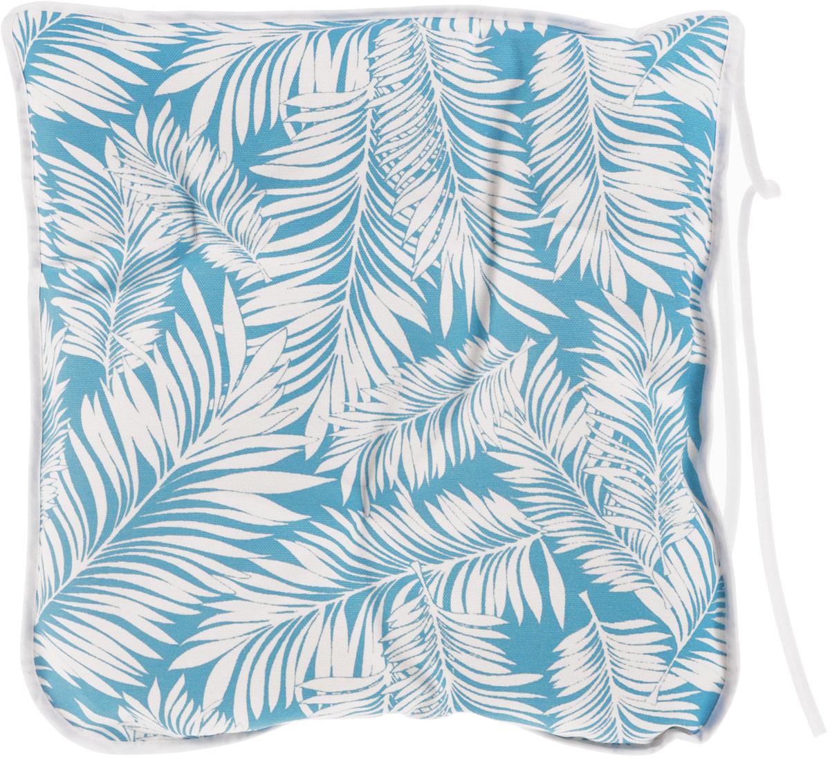 Подушка на стул KauffOrt Лазурный берег, цвет: голубой, 40 x 40 см3112162140Подушка на стул KauffOrt Лазурный берег не только красиво дополнит интерьер кухни, но и обеспечит комфорт при сидении. Чехол выполнен из хлопка и полиэстера, а наполнитель из холлофайбера. Подушка легко крепится на стул с помощью завязок. Правильно сидеть - значит сохранить здоровье на долгие годы. Жесткие сидения подвергают наше здоровье опасности. Подушка с мягким наполнителем поможет предотвратить большинство нежелательных последствий сидячего образа жизни. Толщина подушки: 5 см.
