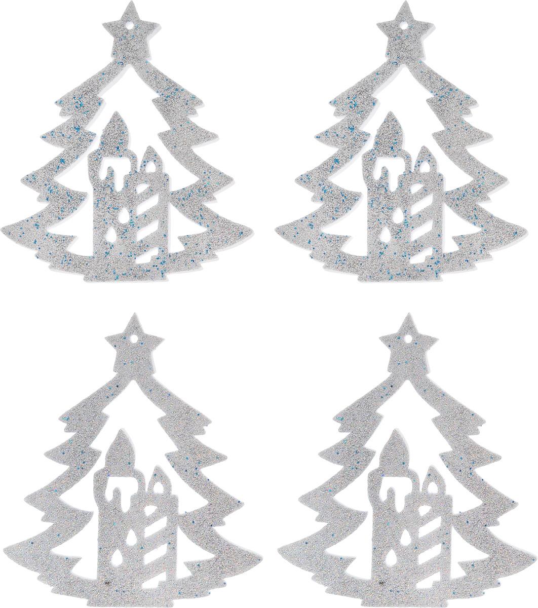 Набор новогодних подвесных украшений House & Holder Елка, цвет: серебристый, 4 штY68-8314/3RНабор подвесных украшений House & Holder Елка прекрасно подойдет для праздничного декора новогодней ели. Набор состоит из 4 пластиковых украшений. Елочная игрушка - символ Нового года. Она несет в себе волшебство и красоту праздника. Создайте в своем доме атмосферу веселья и радости, украшая новогоднюю елку нарядными игрушками, которые будут из года в год накапливать теплоту воспоминаний. Откройте для себя удивительный мир сказок и грез. Почувствуйте волшебные минуты ожидания праздника, создайте новогоднее настроение вашим дорогим и близким. Размер: 11 х 0,5 х 12,5 см.