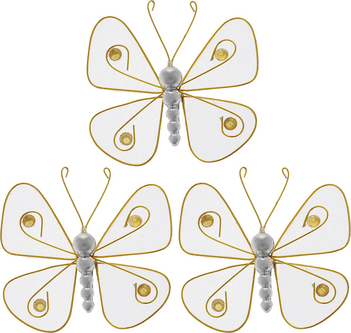 Набор новогодних подвесных украшений House & Holder Бабочки, 3 штG6347/6BНабор подвесных украшений House & Holder Бабочки прекрасно подойдет для праздничного декора новогодней ели. Набор состоит из 3 пластиковых украшений в виде бабочек. Для удобного размещения на елке для каждого украшения предусмотрено крепление. Елочная игрушка - символ Нового года. Она несет в себе волшебство и красоту праздника. Создайте в своем доме атмосферу веселья и радости, украшая новогоднюю елку нарядными игрушками, которые будут из года в год накапливать теплоту воспоминаний. Откройте для себя удивительный мир сказок и грез. Почувствуйте волшебные минуты ожидания праздника, создайте новогоднее настроение вашим дорогим и близким. Размер: 7,5 х 7,5 х 1,5 см.