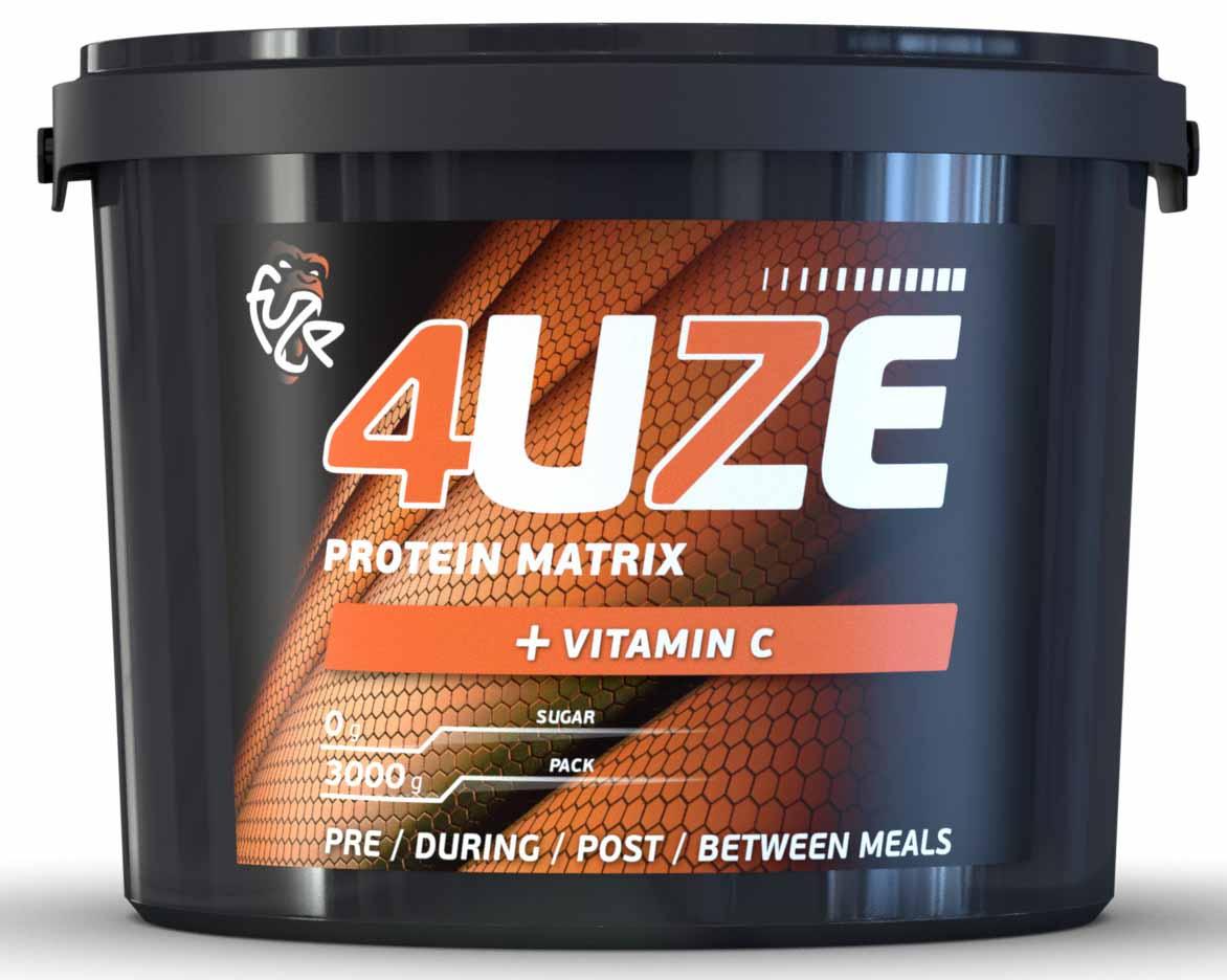Протеин 4UZE + Vitamin C, шоколад-карамель, 3000 г