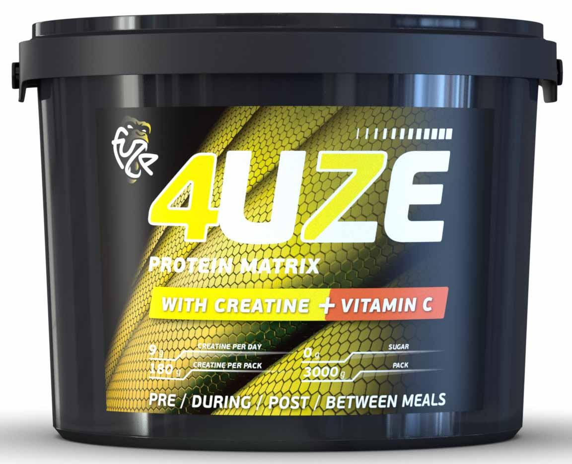 Протеин 4UZE + Сreatine, клубника, 3000 г
