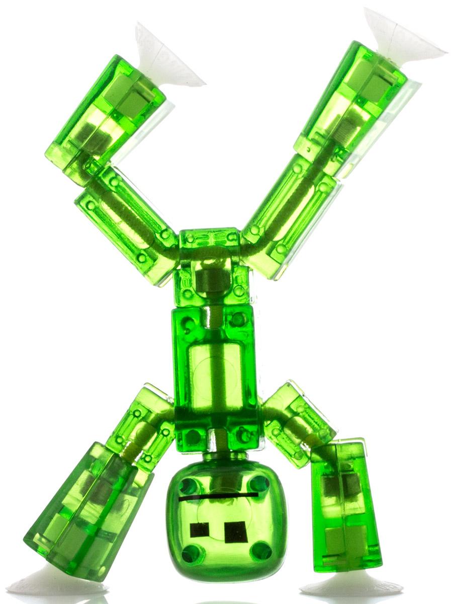 Stikbot Фигурка Стикбот цвет зеленыйTST616_зеленый 2Студия анимации Stikbot - это возможность дать жизнь собственным мультфильмам просто и с удовольствием. Уникальная фигурка стикбота поможет вам создать забавные видеоролики с использованием специального приложения для мобильных устройств, которое вы можете скачать бесплатно на App Store и Google Play. Фигурка выполнена из полупрозрачного пластика. Уникальная конструкция человечка позволяет придавать ему различные позы и фиксировать его в разных положениях. На руках и ногах фигурки находятся присоски - с их помощью вы можете крепить человечка к любым плоским поверхностям.