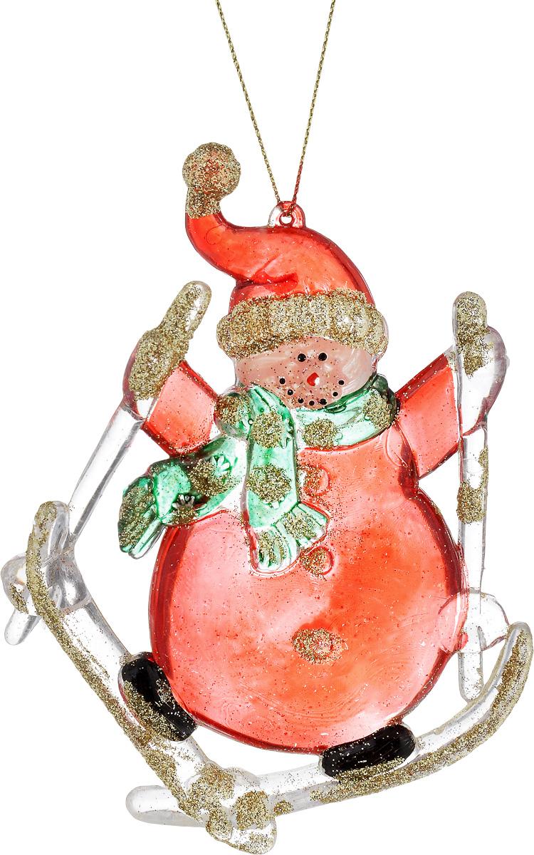 Украшение новогоднее подвесное House & Holder Снеговик на лыжах, высота 12,5 смDP-C30-14148Новогоднее подвесное украшение House & Holder Снеговик на лыжах выполнено из пластмассы. С помощью специальной петельки украшение можно повесить в любом понравившемся вам месте. Но, конечно, удачнее всего оно будет смотреться на праздничной елке. Елочная игрушка - символ Нового года. Она несет в себе волшебство и красоту праздника. Создайте в своем доме атмосферу веселья и радости, украшая новогоднюю елку нарядными игрушками, которые будут из года в год накапливать теплоту воспоминаний. Размер: 9 х 1 х 12,5 см.