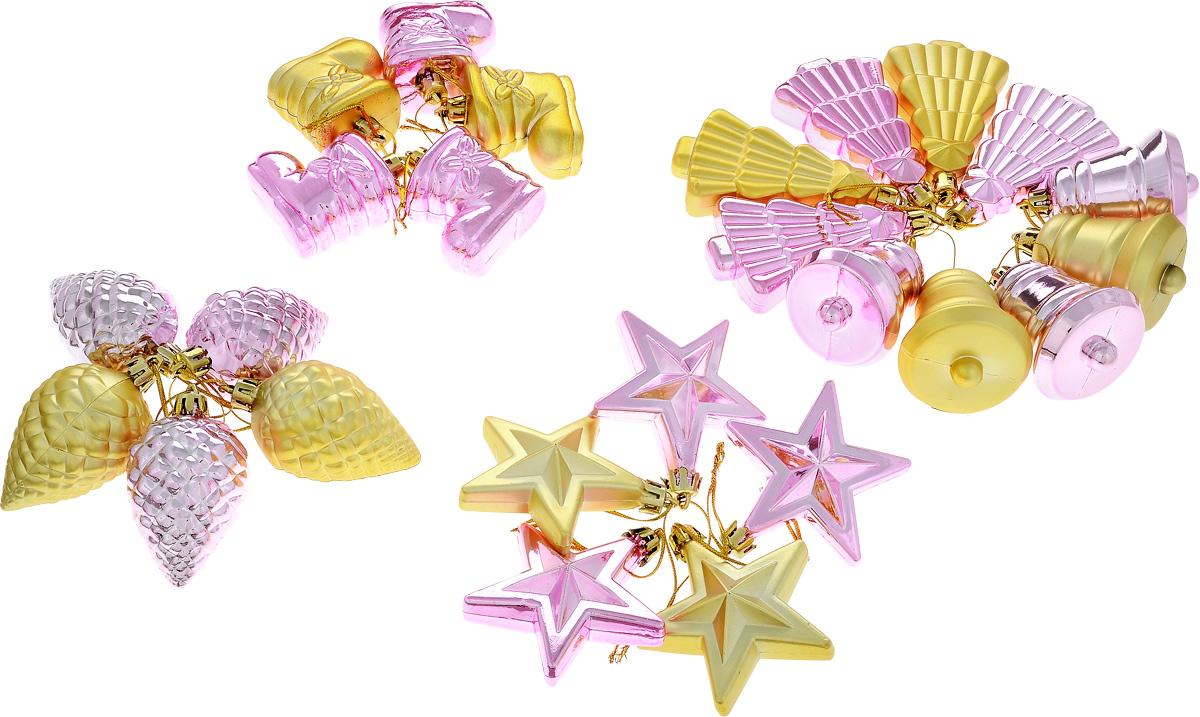 Набор новогодних подвесных украшений House & Holder, 25 штDP-C30-025Набор подвесных украшений House & Holder прекрасно подойдет для праздничного декора новогодней ели. Набор состоит из 25 пластиковых украшений в виде шишек, колокольчиков, елочек. Для удобного размещения на елке для каждого украшения предусмотрено петелька. Елочная игрушка - символ Нового года. Она несет в себе волшебство и красоту праздника. Создайте в своем доме атмосферу веселья и радости, украшая новогоднюю елку нарядными игрушками, которые будут из года в год накапливать теплоту воспоминаний. Откройте для себя удивительный мир сказок и грез. Почувствуйте волшебные минуты ожидания праздника, создайте новогоднее настроение вашим дорогим и близким. Средний размер игрушки: 4,5 х 4,5 х 6 см.