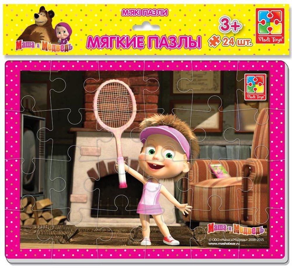 Vladi Toys Пазл для малышей Маша и теннисная ракеткаVT1102-06