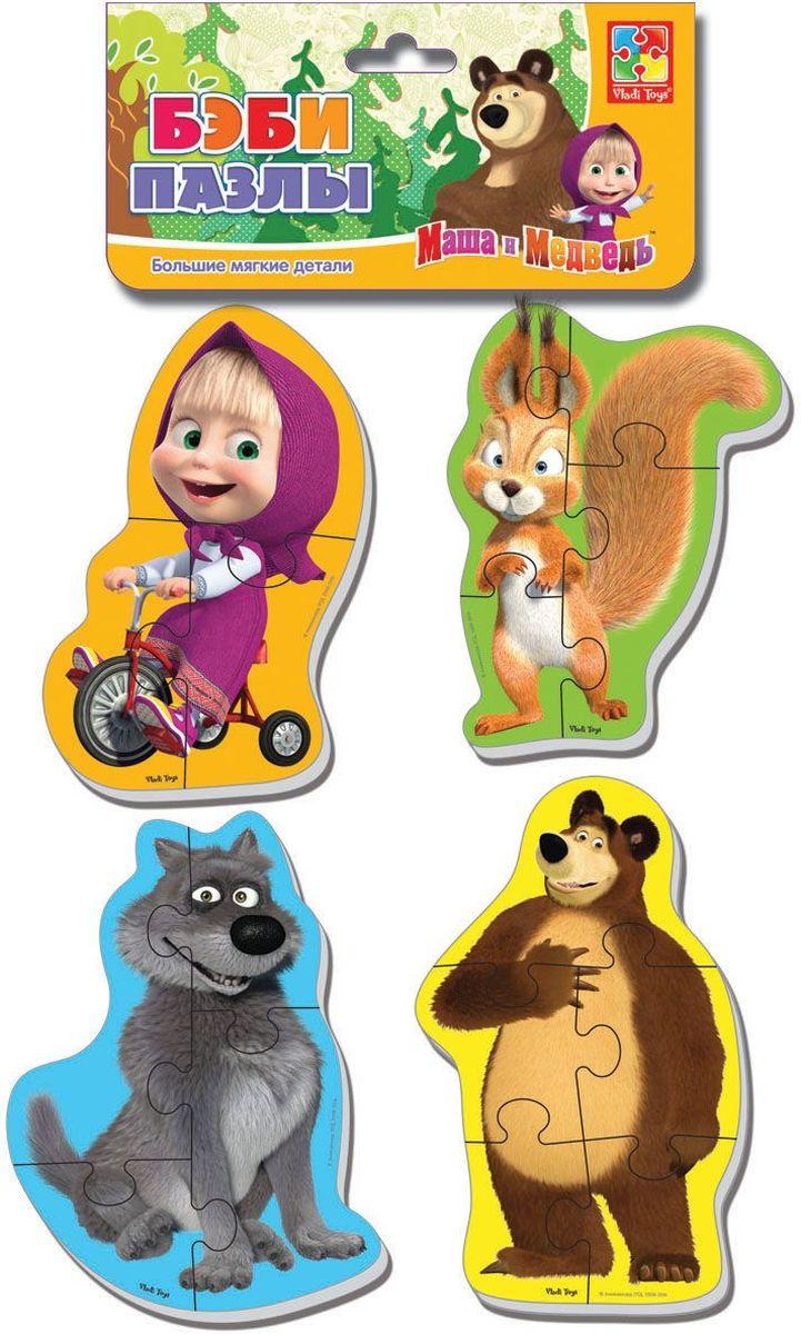 Vladi Toys Пазл для малышей Белка и волкVT1106-52