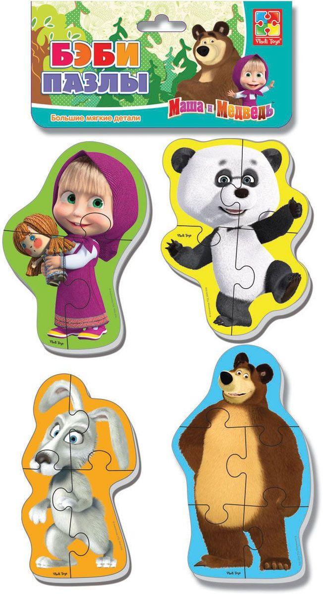Vladi Toys Пазл для малышей Панда и заяцVT1106-53