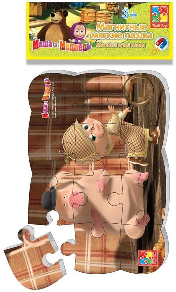 Vladi Toys Пазл для малышей магнитный Маша Шерлок ХолмсVT3205-49