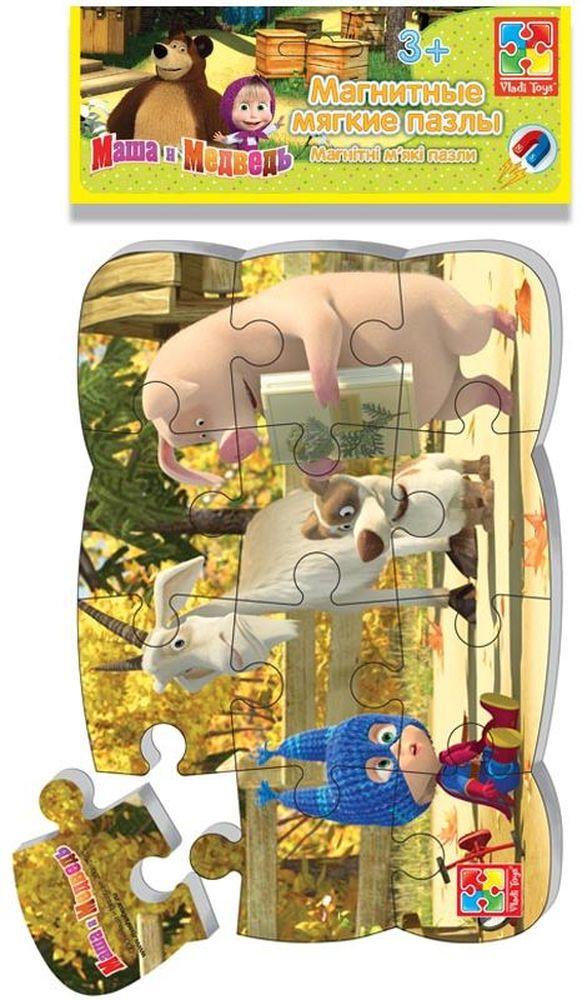 Vladi Toys Пазл для малышей магнитный Маша супер-геройVT3205-51