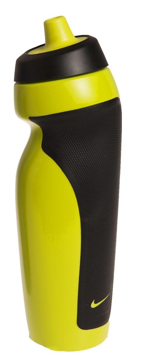 Бутылка для воды Nike Sport Water Bottle, цвет: желтый, черный, 600 мл