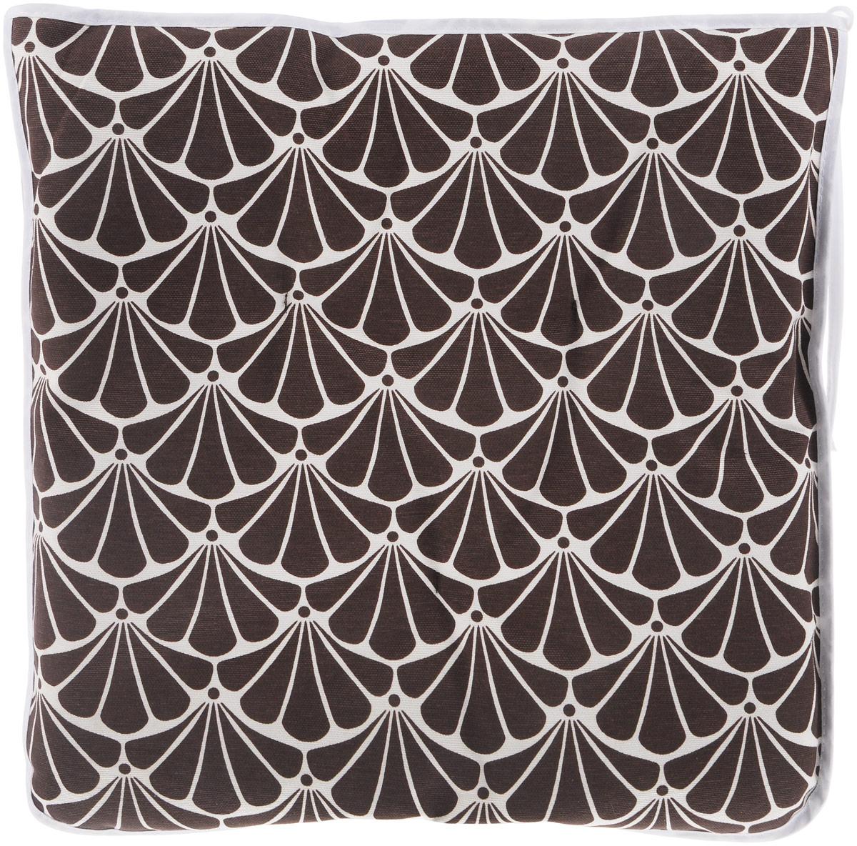 Подушка на стул KauffOrt Томный сад, цвет: коричневый, белый, 40 x 40 см3112494140Подушка на стул KauffOrt Томный сад не только красиво дополнит интерьер кухни, но и обеспечит комфорт при сидении. Изделие выполнено из материалов высокого качества. Подушка легко крепится на стул с помощью завязок. Правильно сидеть - значит сохранить здоровье на долгие годы. Жесткие сидения подвергают наше здоровье опасности. Подушка с мягким наполнителем поможет предотвратить большинство нежелательных последствий сидячего образа жизни. Толщина подушки: 5 см.