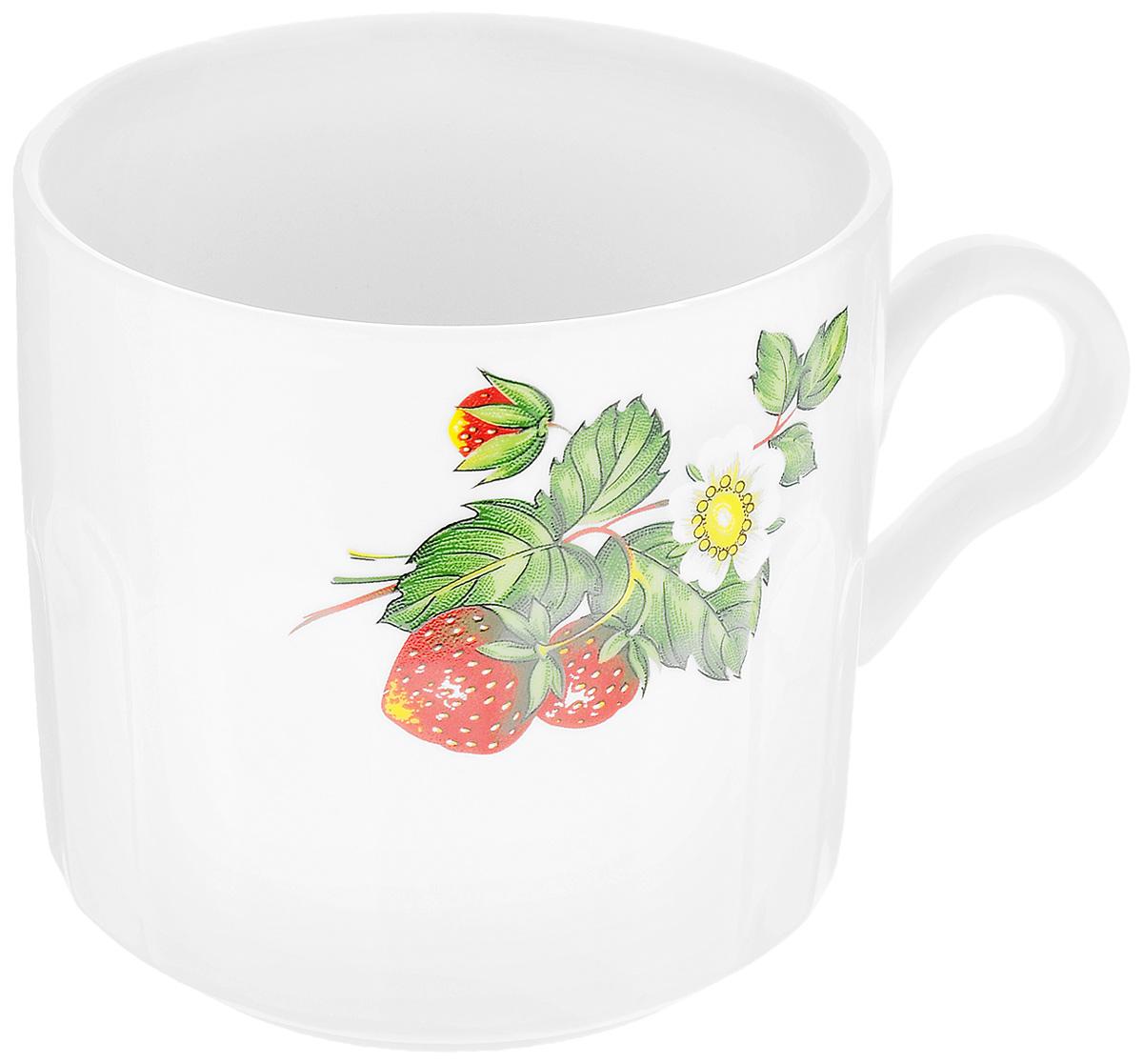 Кружка Фарфор Вербилок Цветущая земляника, 500 мл5721490Кружка Фарфор Вербилок Цветущая земляника способна скрасить любое чаепитие. Изделие выполнено из высококачественного фарфора. Посуда из такого материала позволяет сохранить истинный вкус напитка, а также помогает ему дольше оставаться теплым. Диаметр по верхнему краю: 9,5 см. Высота кружки: 9,5 см.