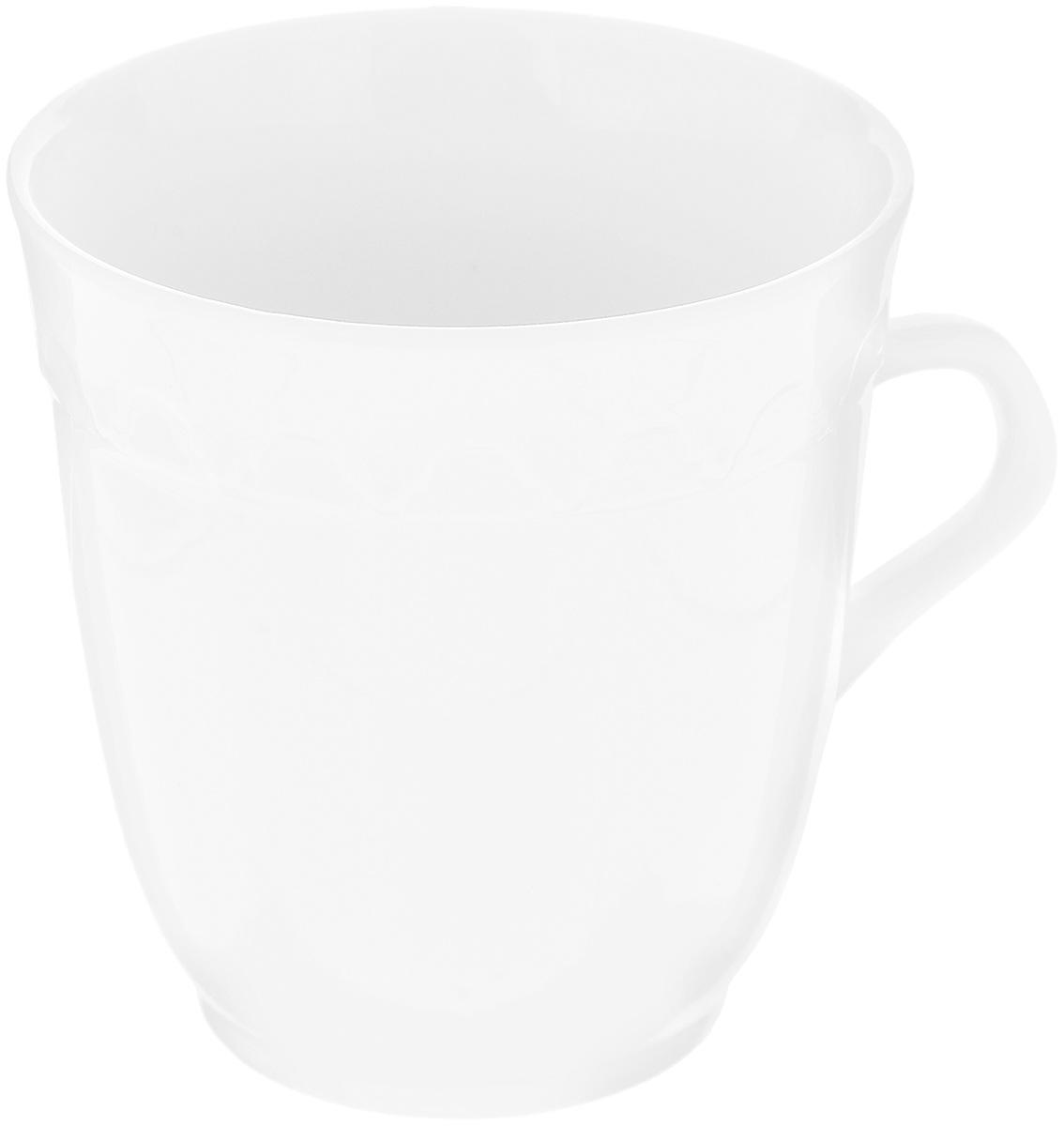 Кружка Фарфор Вербилок Арабеска, 250 мл. 3640000Б3640000БКружка Фарфор Вербилок Арабеска способна скрасить любое чаепитие. Изделие выполнено из высококачественного фарфора. Посуда из такого материала позволяет сохранить истинный вкус напитка, а также помогает ему дольше оставаться теплым. Диаметр по верхнему краю: 8,3 см. Высота кружки: 9 см.