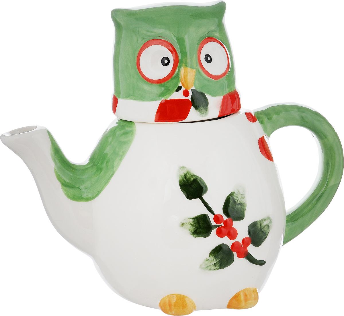 Чайник заварочный House & Holder Сова, 610 млDP-B63-131957B/EЗаварочный чайник House & Holder Сова выполнен из высококачественной керамики и покрыт сверкающей глазурью. Изделие оформлено ярким рисунком и оснащено крышкой. Заварочный чайник House & Holder Сова придется по вкусу и ценителям классики, и тем, кто предпочитает утонченность и изысканность. Диаметр (по верхнему краю): 6 см. Высота чайника (без учета крышки): 10,5 см. Высота чайника (с учетом крышки): 17 см.