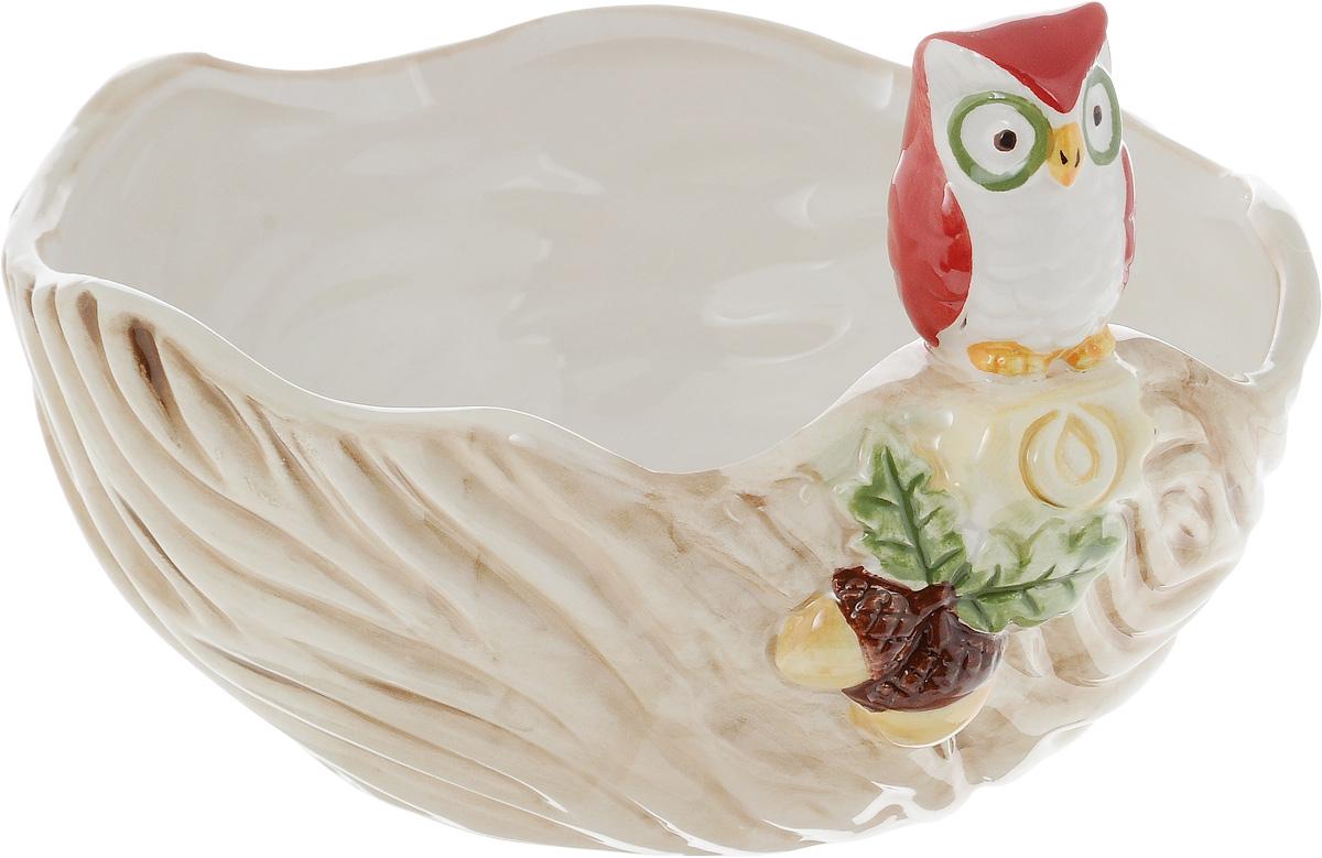 Салатник House & Holder Сова, 540 млDP-B63-69335BКруглый салатник House & Holder Сова изготовлен из высококачественной керамики. Изделие прекрасно подойдет для сервировки ягод, овощей и фруктов, салатов и других продуктов. Салатник House & Holder Сова станет отличным дополнением к коллекции вашей кухонной посуды. Высота салатника с учетом фигурки: 11 см.